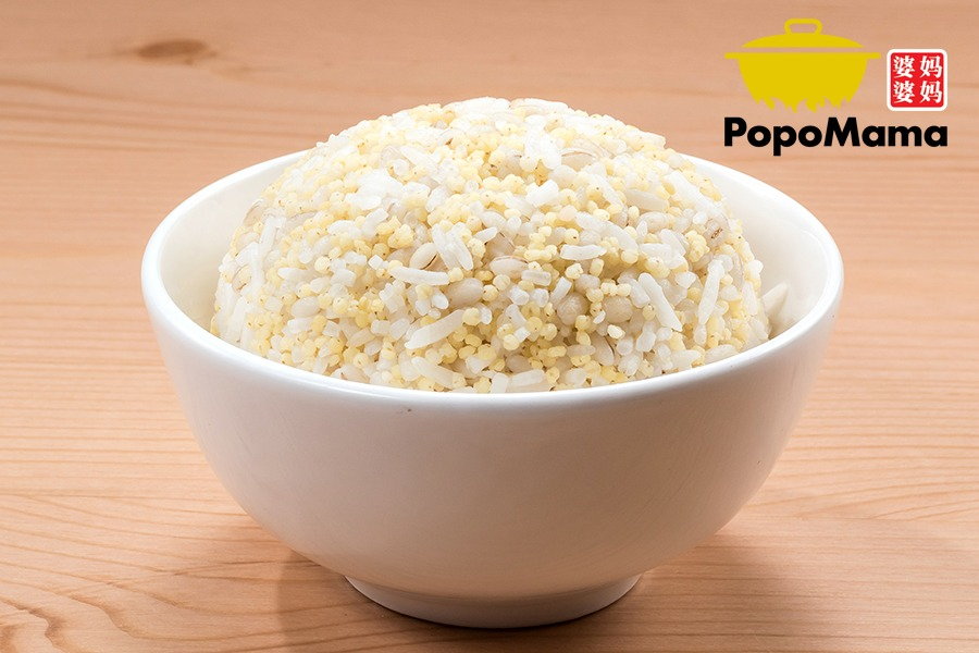 Grains (Carbo) Millet Barley Rice 薏仁小米饭