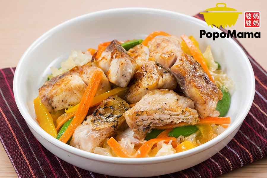 Meat (Protein) -Stir Fried Sea Bass Fillets with Shredded White Funguses 丝丝银耳炒鱼柳