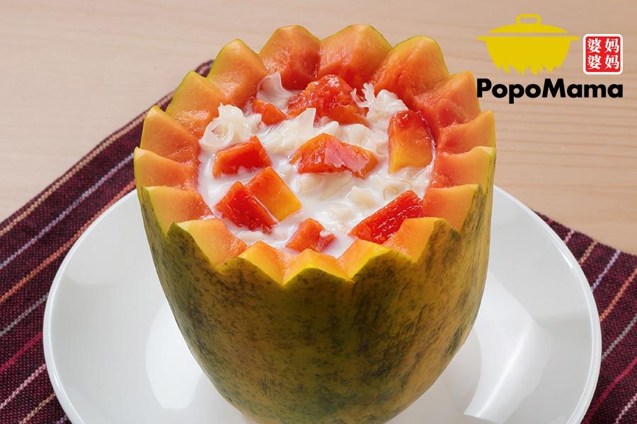 Double Boiled Papaya with Milk<br/>鲜奶炖木瓜