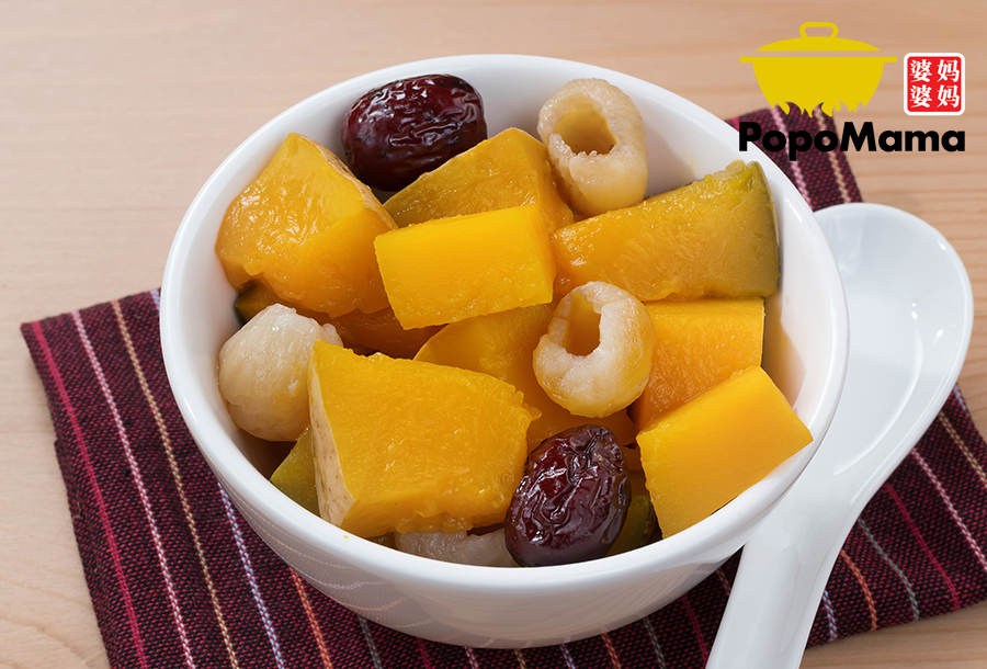 Double Boiled Pumpkin with Red Date & Longan<br/>红枣桂圆炖金瓜