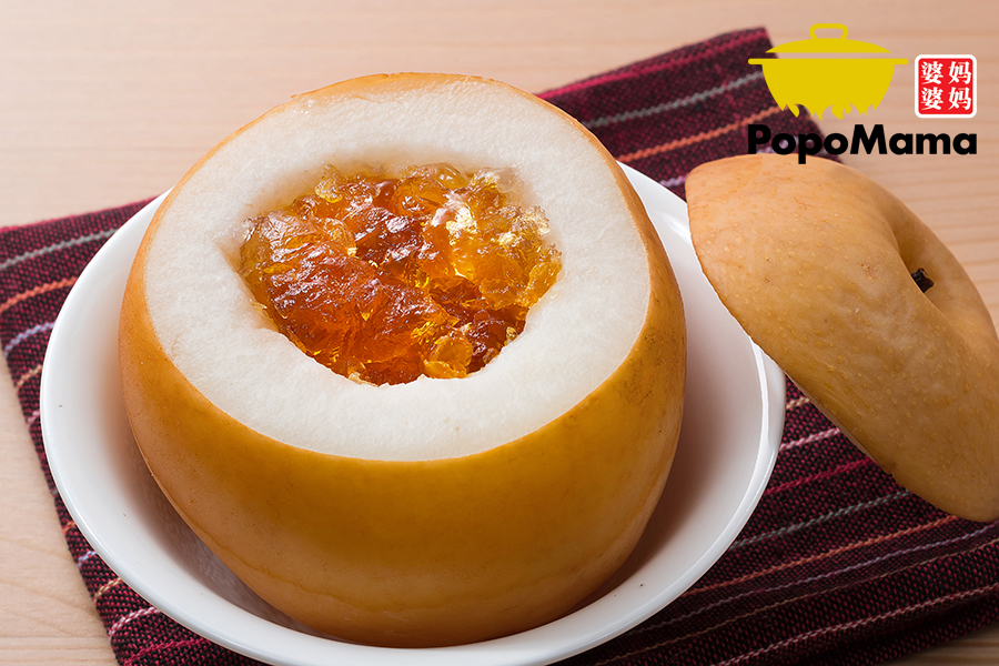 Double Boiled Pear with Peach Gum<br/>桃胶炖雪梨